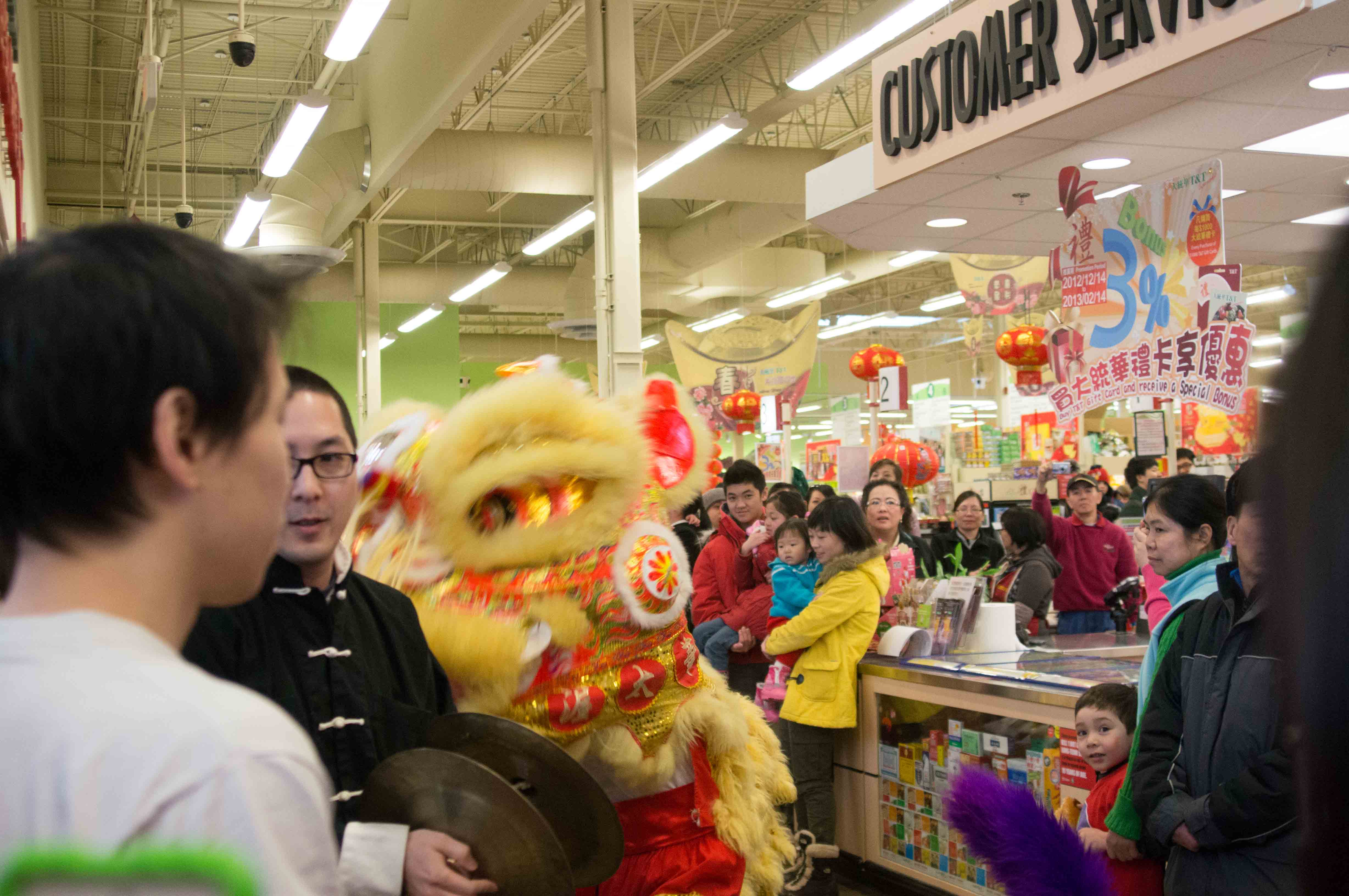 Lion Dance T&T Supermarket Feb 2013-2